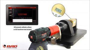 Transductor RAD para ajuste llaves de torque sobre banco de pruebas